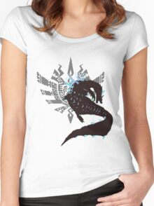 Abyssal Lagiacrus - Sunset Shores Women's Fitted Scoop T-Shirt