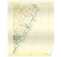 Maine USGS Historical Map York 461043 1893 62500 Poster
