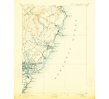 Maine USGS Historical Map York 461043 1893 62500 Photographic Print