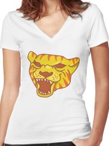 Fists of Fury Women's Fitted V-Neck T-Shirt