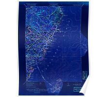 Maine USGS Historical Map York 461044 1920 62500 Inversion Poster