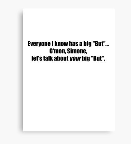 Pee-Wee Herman - C'mon Simone, Let's Talk - Black Font Canvas Print