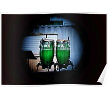 Green Drum Poster