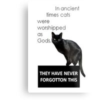 In Ancient Times Cats Were Worshipped As Gods Metal Print