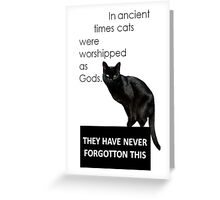 In Ancient Times Cats Were Worshipped As Gods Greeting Card