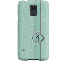 1920s Blue Deco Swing with Monogram letter K Samsung Galaxy Case/Skin
