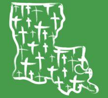 Louisiana Crosses (white) Kids Tee