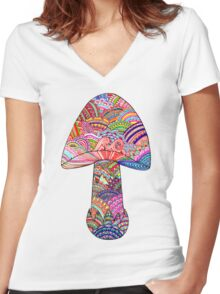 Shroom Women's Fitted V-Neck T-Shirt