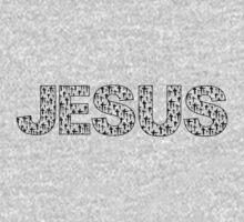 Jesus (black crosses) One Piece - Long Sleeve