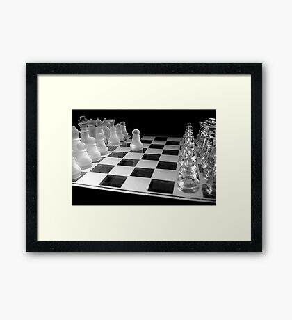 Chess 3045: Your turn... Framed Print