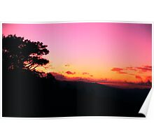 Atardecer, Sunset in the Central Valley - Costa Rica Poster