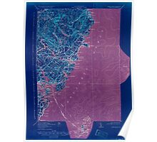 Maine USGS Historical Map York 807741 1920 62500 Inversion Poster