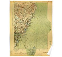 Maine USGS Historical Map York 807742 1920 62500 Poster
