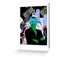 Faith in Barack Obama in the economy Greeting Card