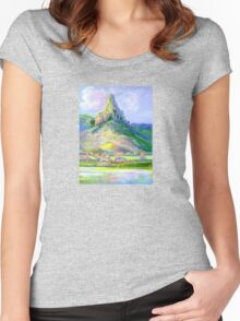 Page's Pinnacle , Numinbah National Park Queensland  Women's Fitted Scoop T-Shirt