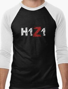 H1Z1: Title - White Ink Men's Baseball ¾ T-Shirt