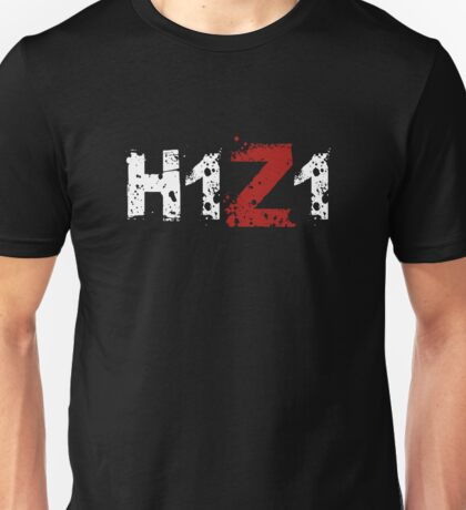 H1Z1: Title - White Ink Unisex T-Shirt