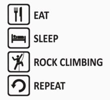Rock Climbing Eat Sleep Repeat Funny  T-Shirt