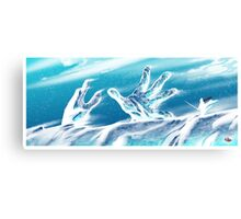 Ice Hands Canvas Print