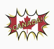 Canadian Flag Comic Style Starburst Kids Clothes