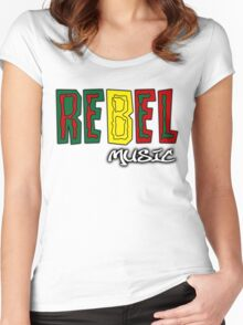 Rebel Music Women's Fitted Scoop T-Shirt