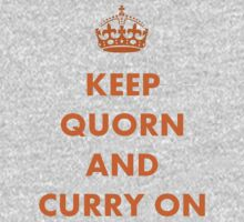 Keep Quorn and Curry On Kids Clothes