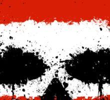 Chaotic Austrian Flag Splatter Skull Sticker