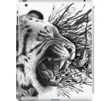 Emit - Tiger and Butterflies with Paint Drips and Splatters iPad Case/Skin