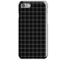 BLACK GRIDS DESIGN iPhone Case/Skin