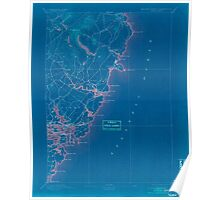 Maine USGS Historical Map York 807746 1893 62500 Inversion Poster