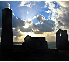 Nearly Dark at Wheal Coats Copper Mine by Malcolm Chant
