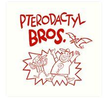Gravity Falls Pterodactyl Bros replica Art Print
