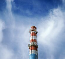 urban chimney-stalk  by Sergieiev