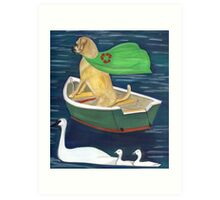 Buddha Dog and Clean water Art Print