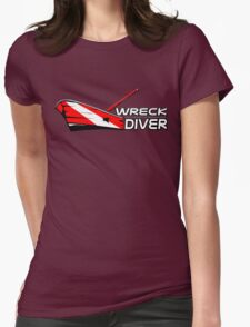 Wreck Diver Womens Fitted T-Shirt