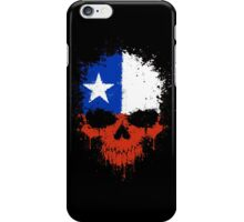 Chaotic Chilean Flag Splatter Skull iPhone Case/Skin