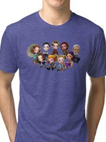 Chibi Damn Heroes Tri-blend T-Shirt