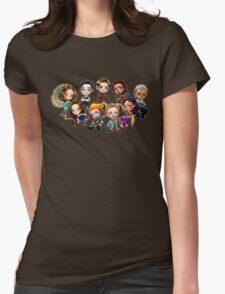 Chibi Damn Heroes Womens Fitted T-Shirt