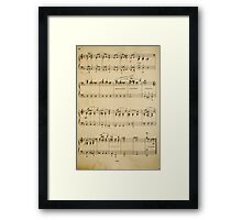 fragment with music  notes Framed Print