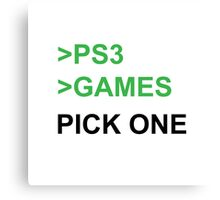 PS3 Has No Games Canvas Print
