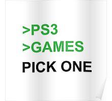 PS3 Has No Games Poster