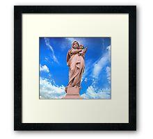 Statue of Divine Mother Framed Print