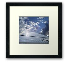 office centre - business ship in sky Framed Print