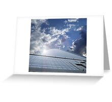 office centre - business ship in sky Greeting Card