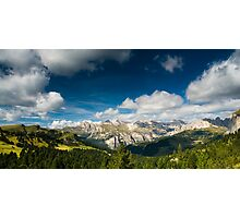 Scenic view over dolomite alps Photographic Print