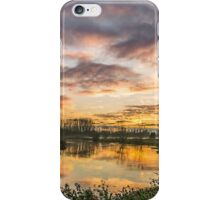 Sunset over Goosey Bridge iPhone Case/Skin