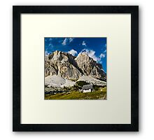 scenic view at passo pordoi Framed Print