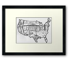 Away In The Wild... Framed Print