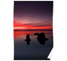 Sunset at Traeth Ogwr Poster