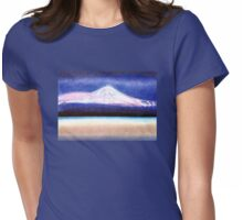 """DREAM OF """"EL TEIDE"""" WITH PINK CLOUD - THE HIGHEST MOUNTAIN OF SPAIN - Pastel-Design Womens Fitted T-Shirt"""